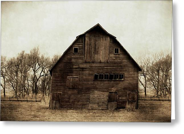 Barn Digital Greeting Cards - Windows1 Greeting Card by Julie Hamilton
