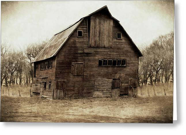 Barn Digital Greeting Cards - Windows4 Greeting Card by Julie Hamilton