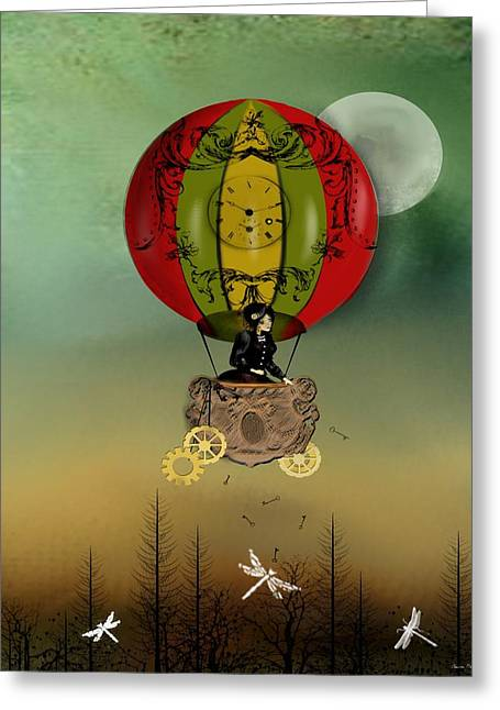 Goth Girl Greeting Cards - Winds of Change Greeting Card by Charlene Zatloukal