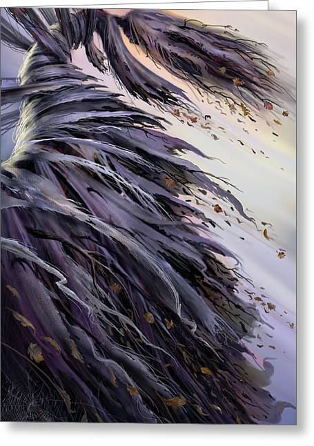 Spider Web Greeting Cards - Winds of Change Greeting Card by Philip Straub