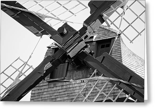 Fox River Mills Greeting Cards - Windshaft BW Greeting Card by Jenny Hudson