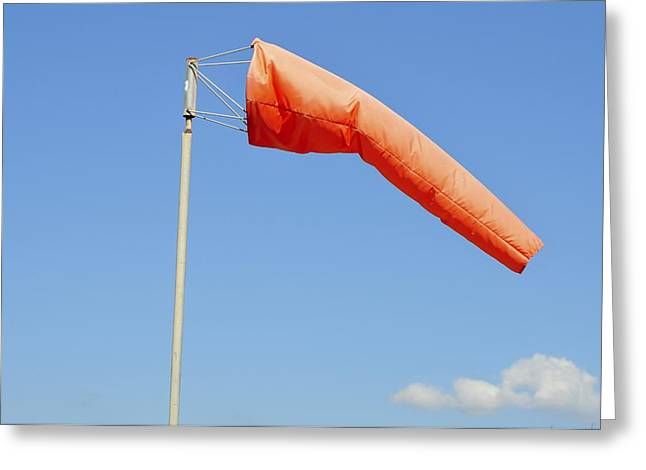 Airstrip Greeting Cards - Windsock In An Airfield Greeting Card by Photostock-israel