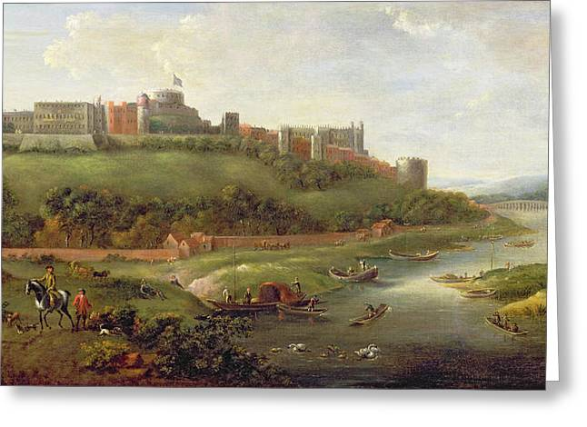 Windsor Castle Greeting Card by Hendrick Danckerts