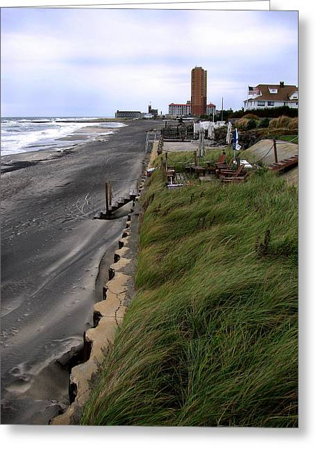 Buildings By The Ocean Greeting Cards - Windswept Greeting Card by Colleen Kammerer