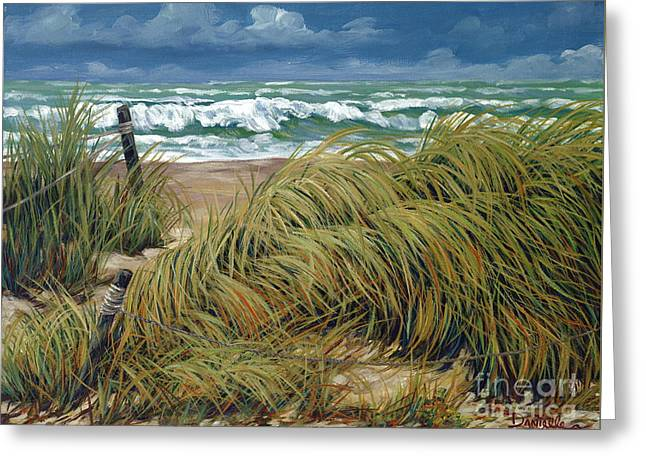 Windswept Paintings Greeting Cards - Windswept Greeting Card by Danielle  Perry