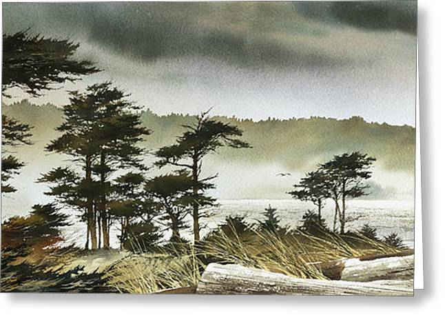 Landscape Framed Prints Greeting Cards - Windswept Shore Greeting Card by James Williamson