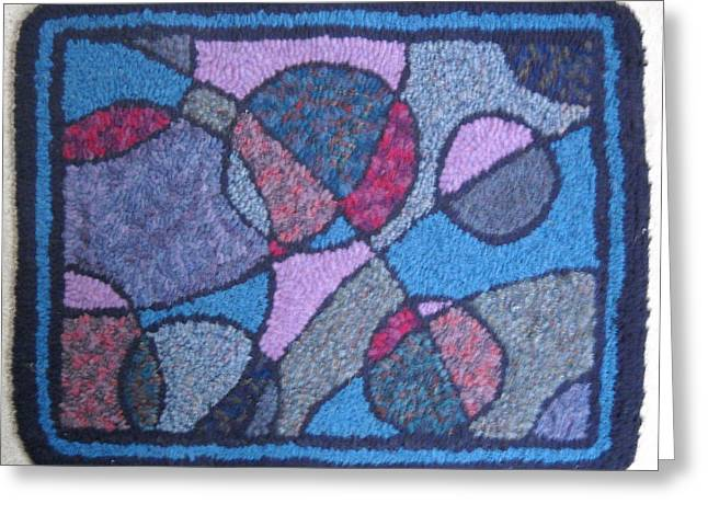 Circles Tapestries - Textiles Greeting Cards - Wine and Blues Greeting Card by Maureen McIlwain