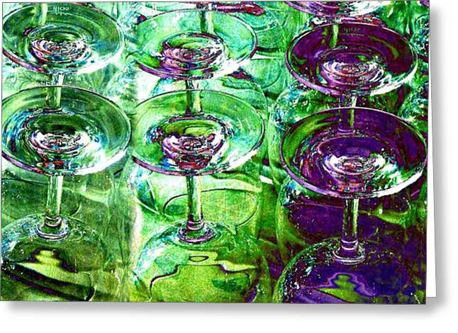 Wine And Dine Greeting Card by Will Borden