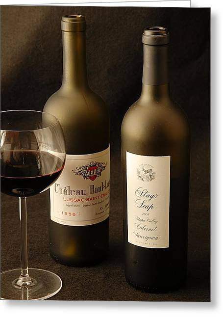 Wine Bottles Greeting Card by David Campione