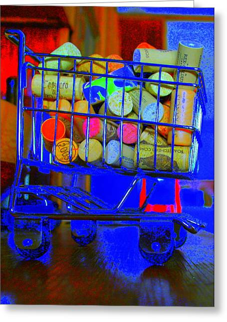 Wine Cart Greeting Cards - Wine Buggy Greeting Card by James Eller