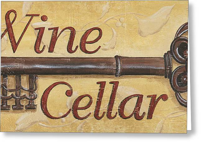 Bordeaux Greeting Cards - Wine Cellar Greeting Card by Debbie DeWitt