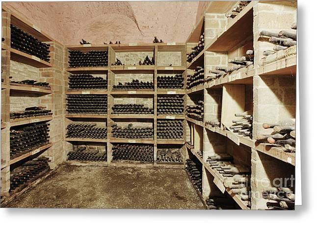 Chianti Greeting Cards - Wine Cellar Greeting Card by Jeremy Woodhouse