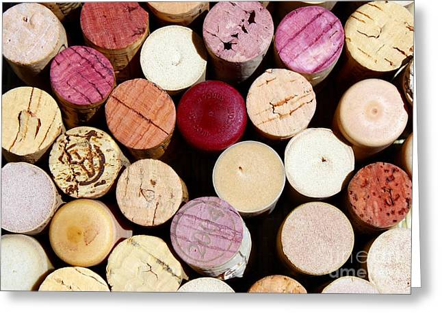 Wine Cork Collection Greeting Cards - Wine Corks 3 Greeting Card by Sophie Vigneault