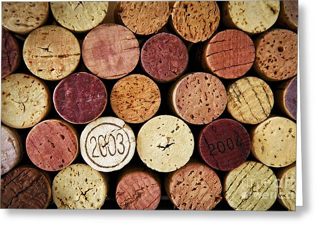 Wine Cork Greeting Cards - Wine corks Greeting Card by Elena Elisseeva