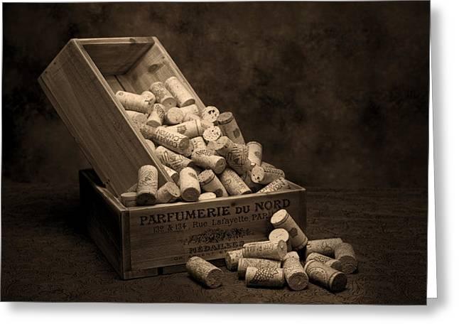 Wine Cork Greeting Cards - Wine Corks Still Life I Greeting Card by Tom Mc Nemar