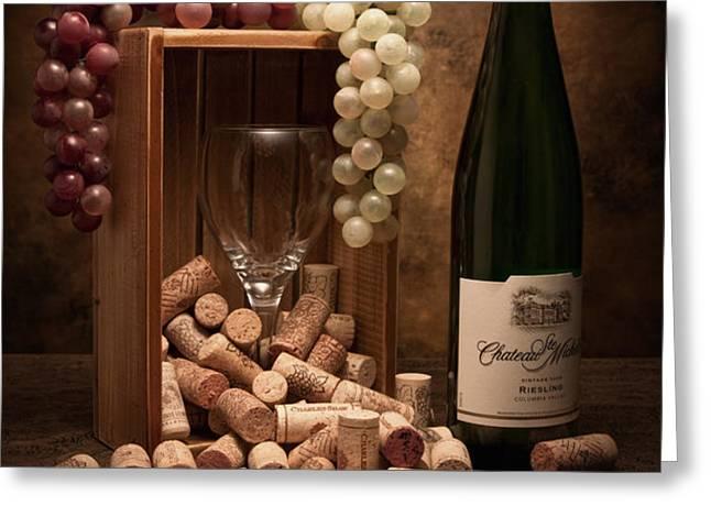 Wine Corks Still Life II Greeting Card by Tom Mc Nemar
