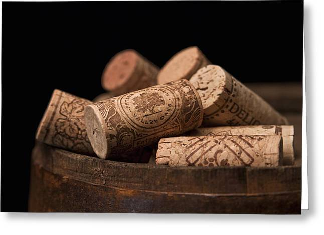 Cask Greeting Cards - Wine Corks Greeting Card by Tom Mc Nemar