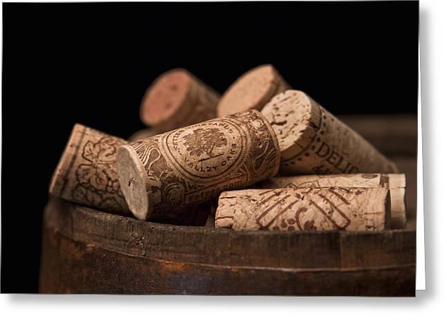 Corks Greeting Cards - Wine Corks Greeting Card by Tom Mc Nemar