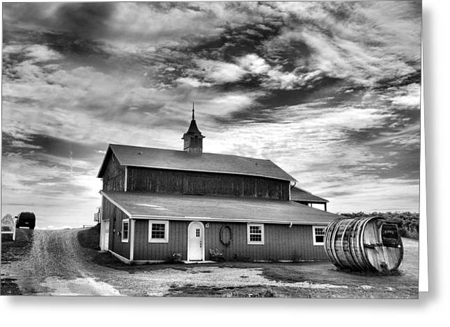 Finger Lakes Greeting Cards - Wine Country Barn Greeting Card by Steven Ainsworth