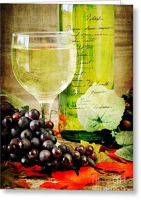 Grapevines Greeting Cards - WIne Greeting Card by Darren Fisher