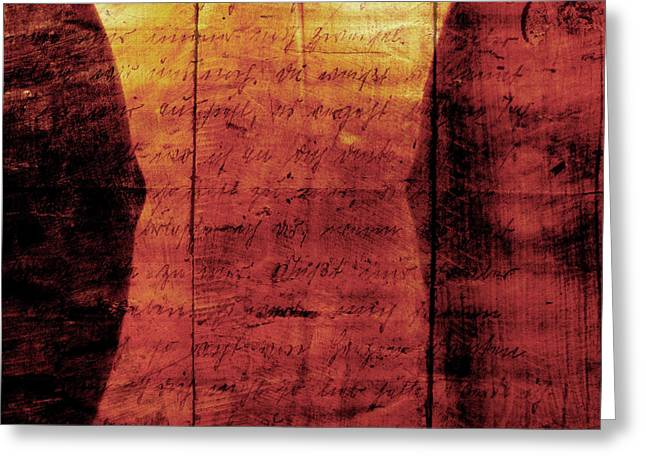 Dated Pyrography Greeting Cards - Wine Earths Blood 2 Greeting Card by Pedro Cardona