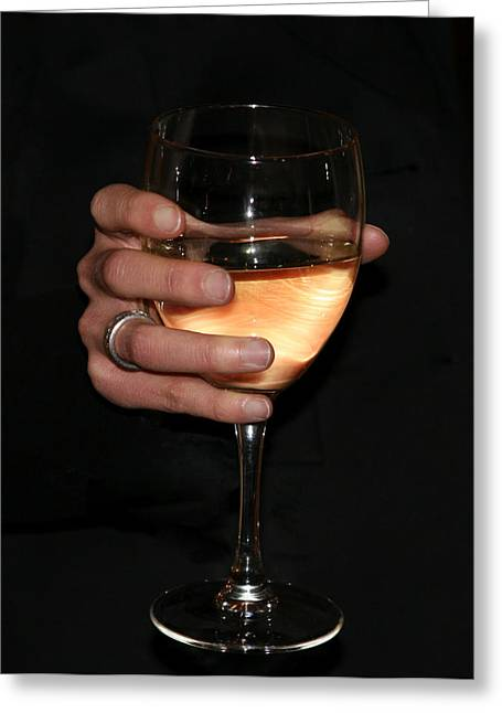 Toast Greeting Cards - Wine glass Greeting Card by Ivan SABO