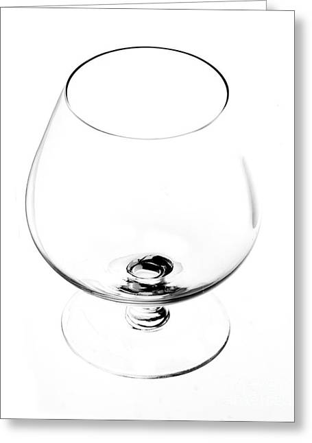 Toast Greeting Cards - Wine Glass Greeting Card by Michal Boubin