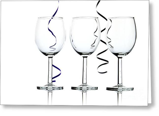 Streamer Greeting Cards - Wine glasses Greeting Card by Blink Images