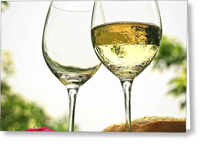 Wine glasses Greeting Card by Elena Elisseeva