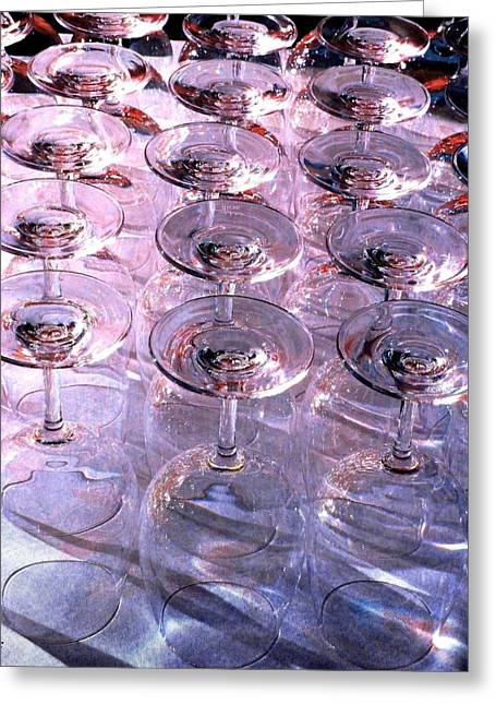 Wine Country. Digital Art Greeting Cards - Wine Goblets 2 Greeting Card by Will Borden