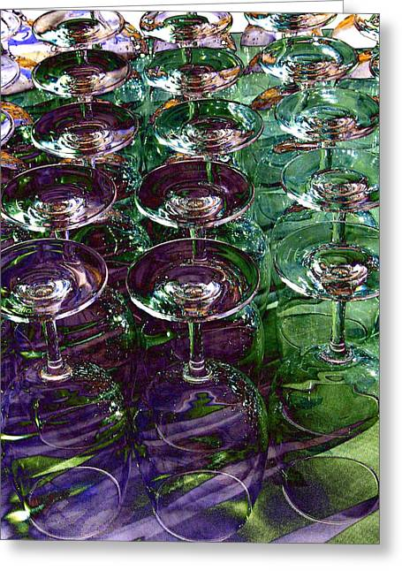 Wine Country. Digital Art Greeting Cards - Wine Goblets Greeting Card by Will Borden