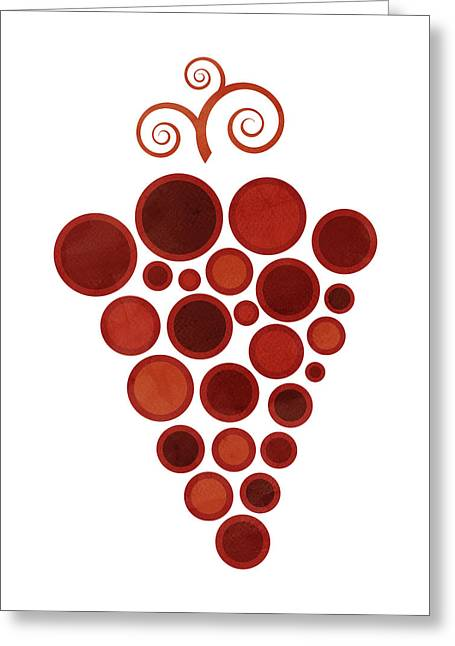 Art Nouveau Greeting Cards - Wine grape Greeting Card by Frank Tschakert