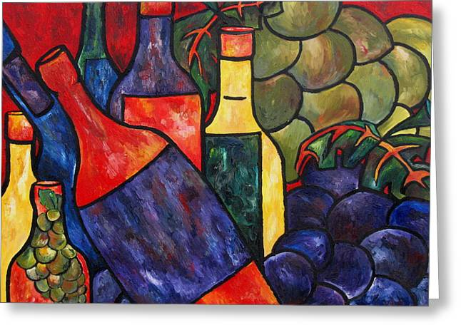 Italian Wine Greeting Cards - Wine In Color Greeting Card by Patti Schermerhorn