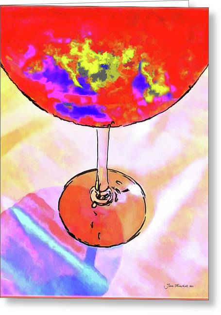Wine Perpective Greeting Card by Joan  Minchak
