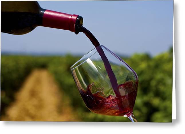 Wine Scene Greeting Cards - Wine Greeting Card by Rui Caldeira