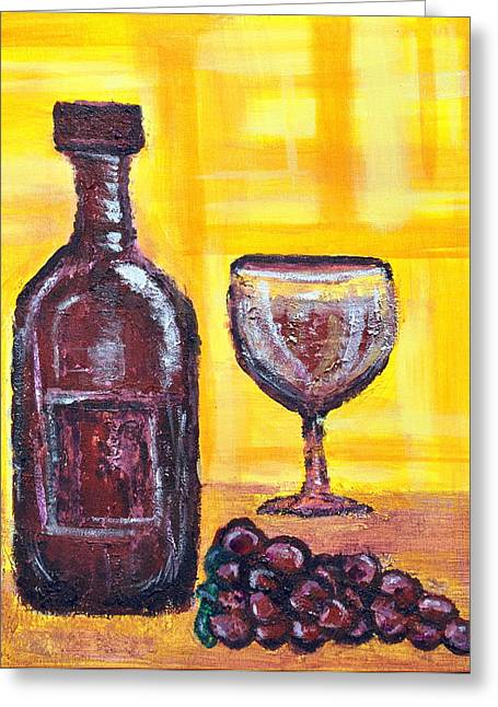 Wine Still Life 2 Greeting Card by Janice Gelona