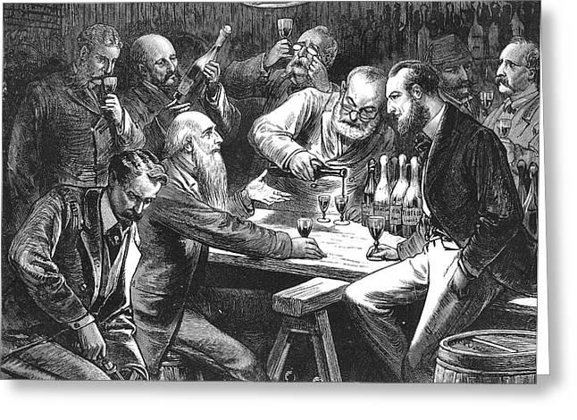 WINE TASTING, 1876 Greeting Card by Granger