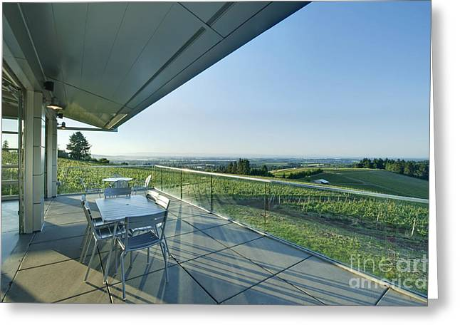 Wine Tasting Balcony Greeting Card by Rob Tilley