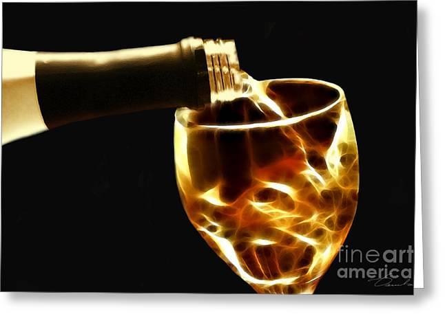 Wine Pour Digital Greeting Cards - Wine tasting Greeting Card by Danuta Bennett