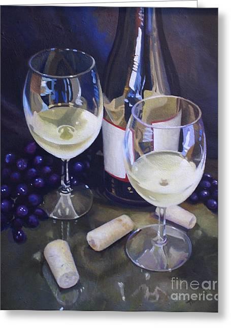 Beautiful Wine Grape Print Greeting Cards - Wine Theme Print Wall Art Room Decor Greeting Card by Patti Trostle