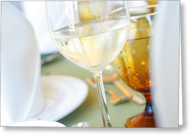 wineglass Greeting Card by ATIKETTA SANGASAENG
