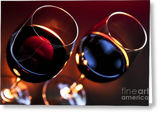 Pairs Greeting Cards - Wineglasses Greeting Card by Elena Elisseeva