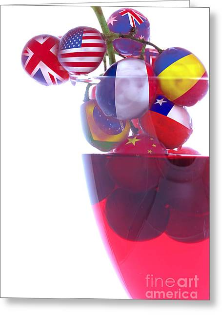 Goblet Greeting Cards - Wines from all Countries Greeting Card by Simon Bratt Photography LRPS