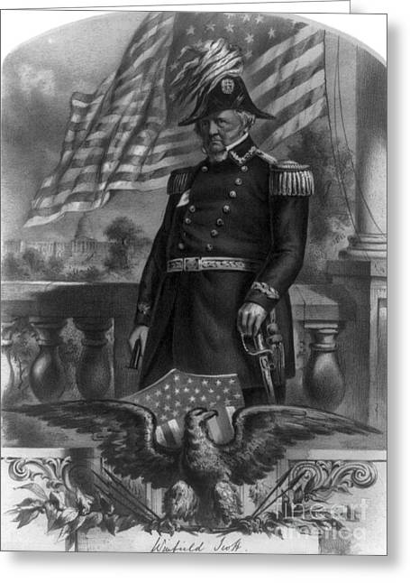 Grand Old Party Greeting Cards - Winfield Scott, American Army General Greeting Card by Photo Researchers
