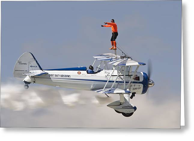 Wing Walker Greeting Card by Eric Miller