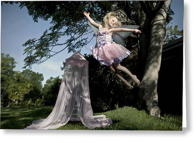 Pink Tutu Greeting Cards - Wings Greeting Card by Glennis Siverson