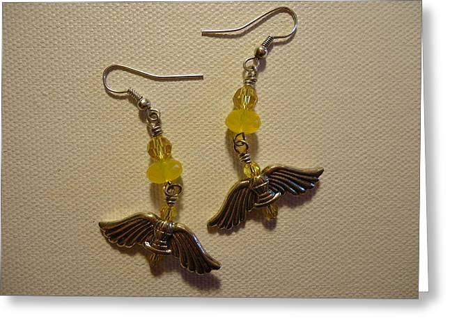 Wings of an Angel Earrings Greeting Card by Jenna Green