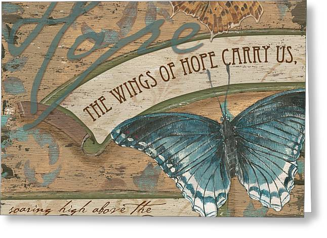Natural Greeting Cards - Wings of Hope Greeting Card by Debbie DeWitt