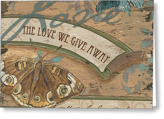 Texting Greeting Cards - Wings of Love Greeting Card by Debbie DeWitt