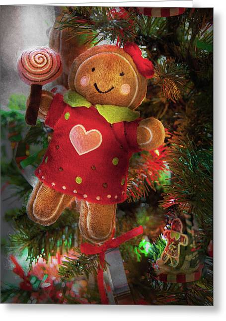 Stuffed Toy Greeting Cards - Winter - Christmas - Little Miss Sunshine  Greeting Card by Mike Savad